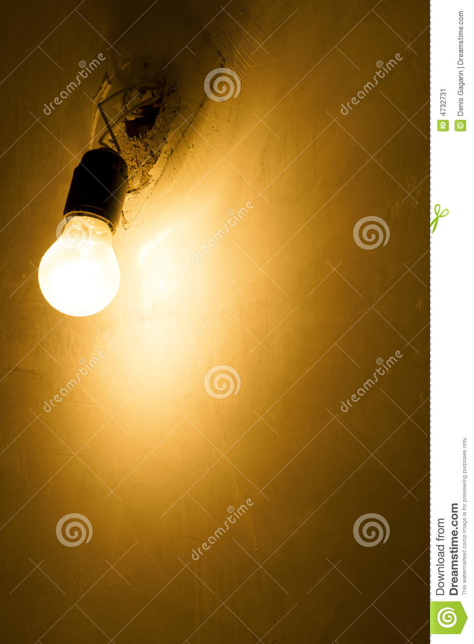 Electric Lantern Wall Lights : Electric Light And Wall Stock Image - Image: 4732731