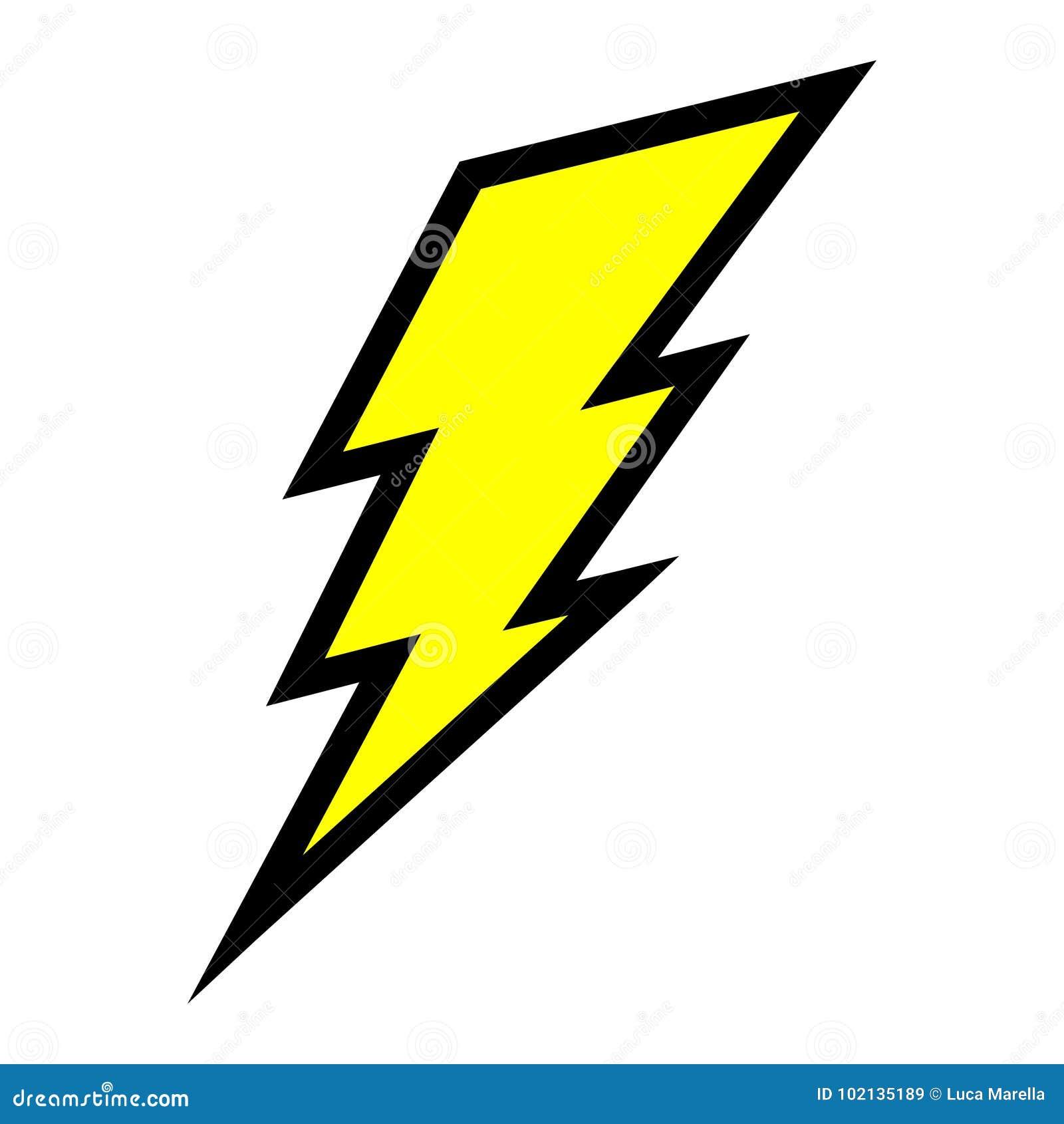 Electric lightning bolt stock vector. Illustration of energetic ...