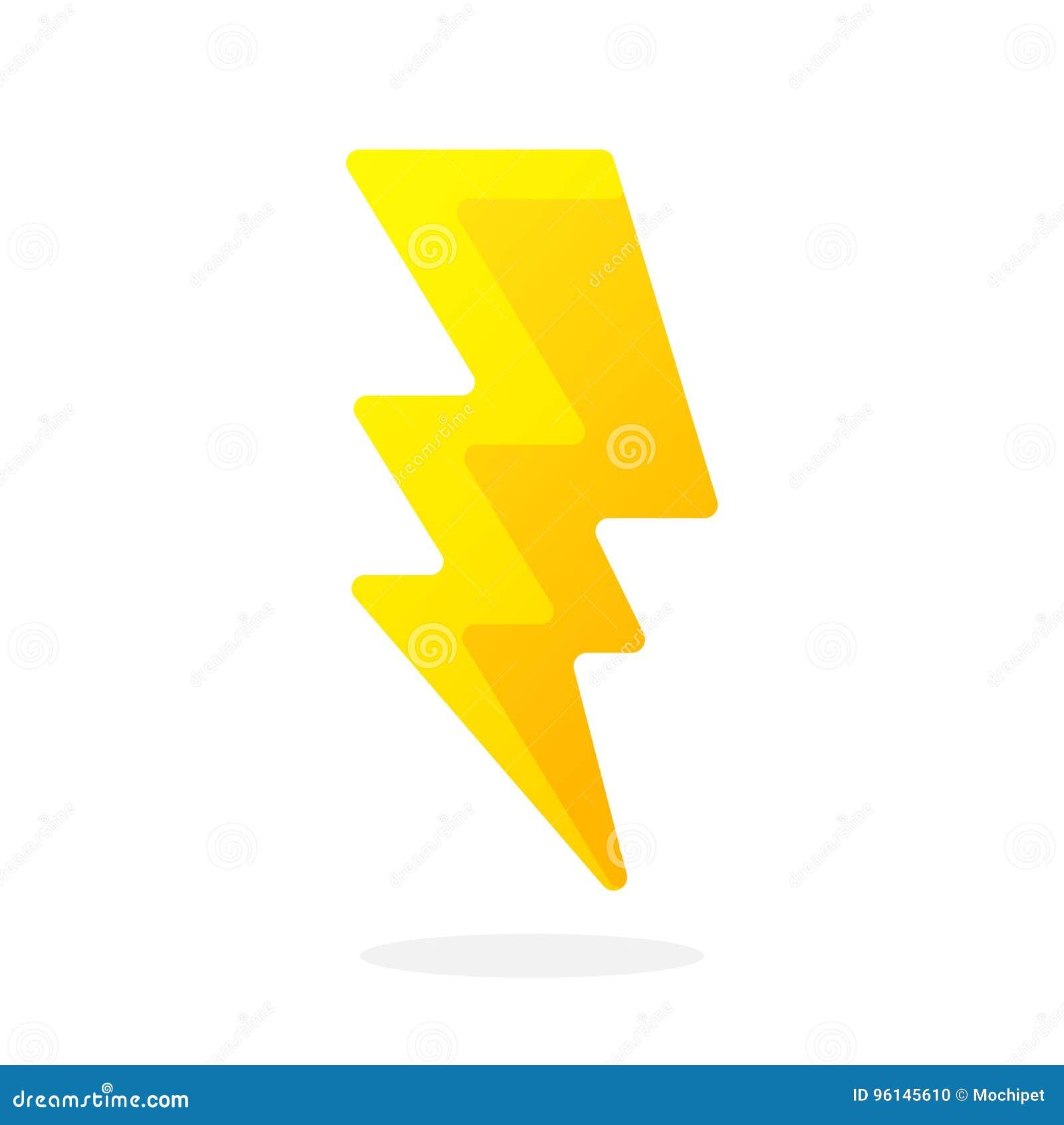 Electric lightning bolt stock vector. Illustration of electric ...