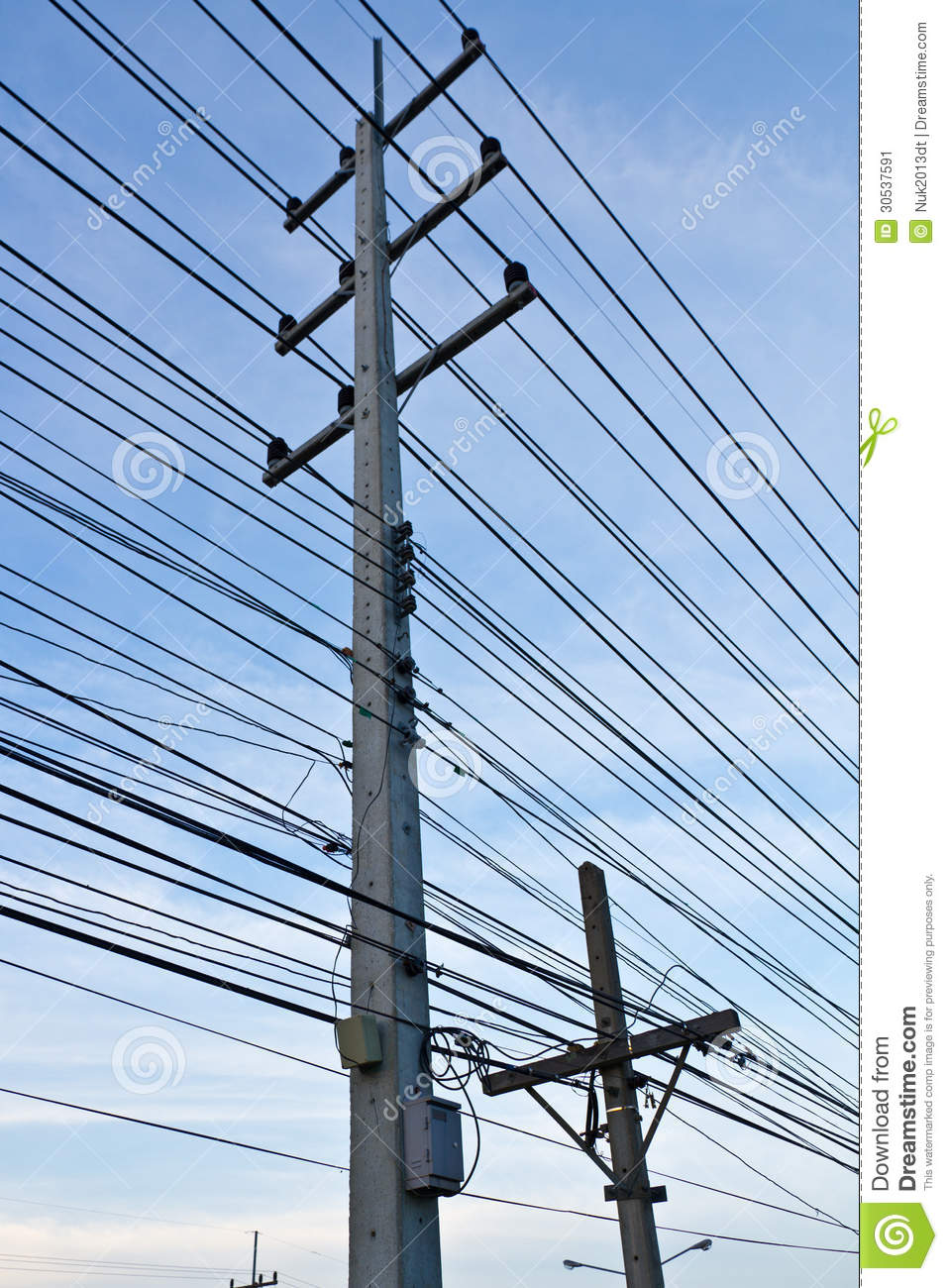 electric line and post stock image image of road many 30537591