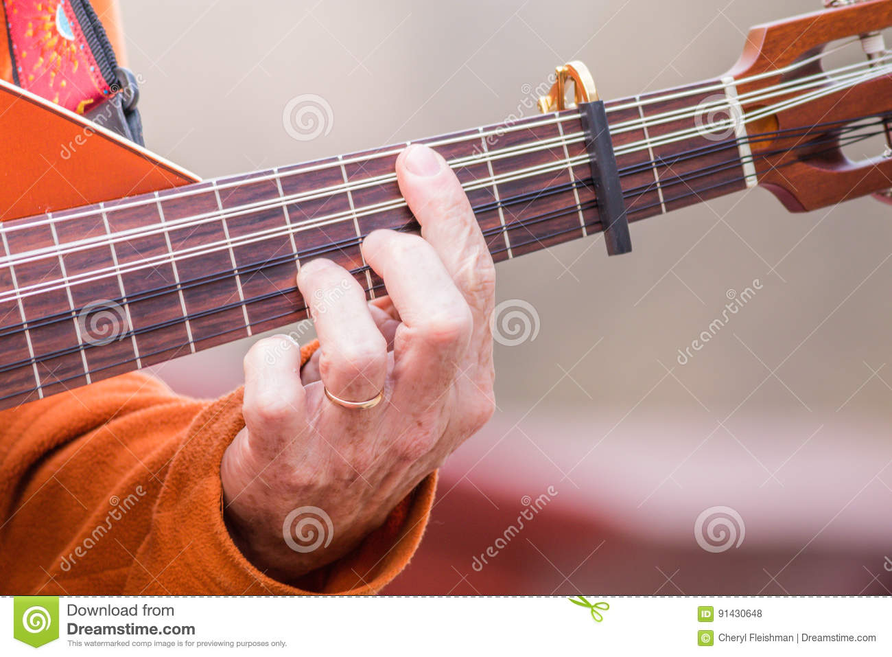 electric lute guitar oud stock photo image of fretless 91430648. Black Bedroom Furniture Sets. Home Design Ideas
