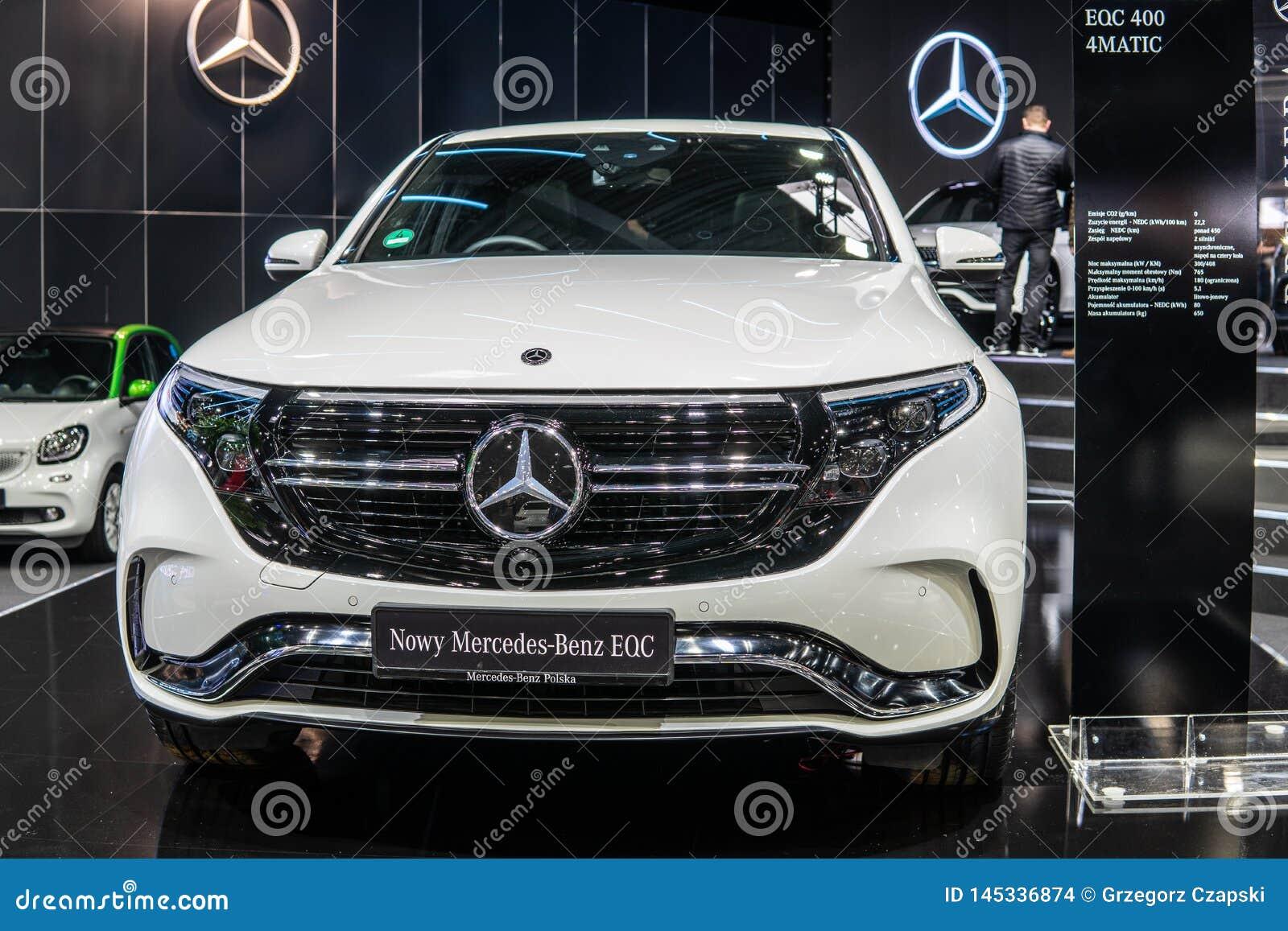 Electric Mercedes-Benz EQC 400 4Matic 300kW SUV, 2019 model year, EQ brand, EV produced by Mercedes Benz