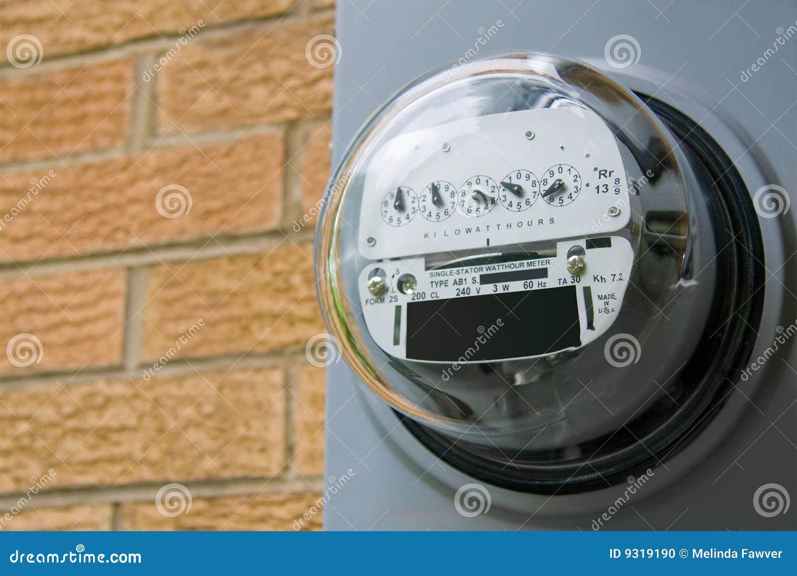 Power Meter Cartoon : Electric meter royalty free stock photography
