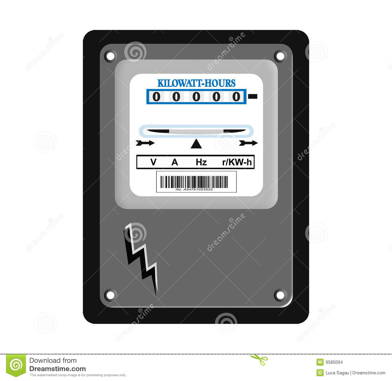 Electric Meter Stock Images Image 9585094