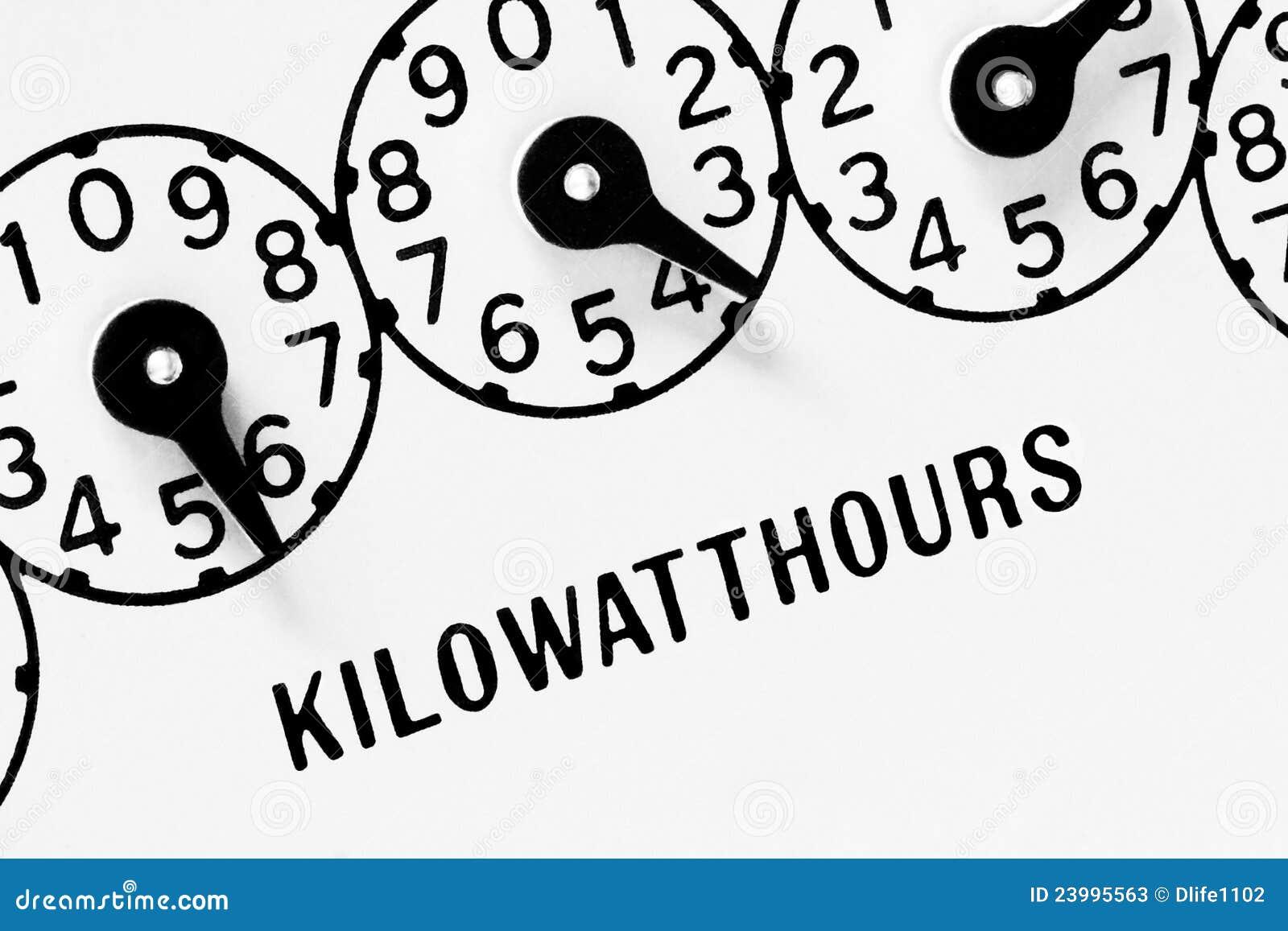 electric meter dials stock image  image of metering  bills