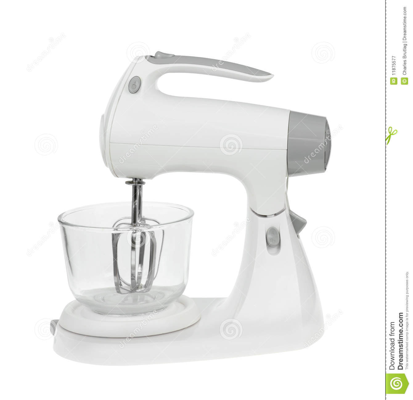 Usage Of Electric Mixer ~ Electric mixer stock image of white background