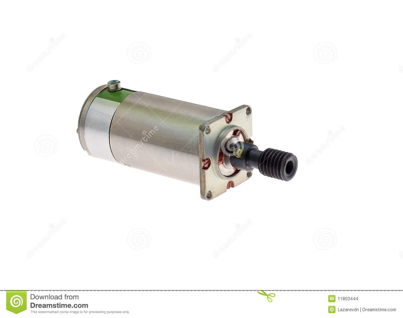 Electric motor stock photo image of servo metal object for Abc electric motor repair