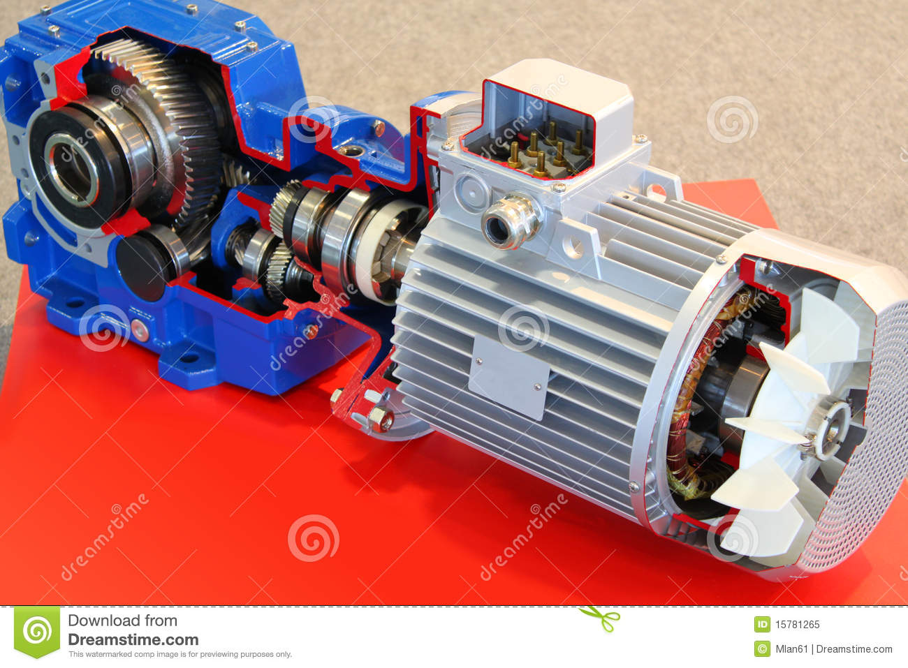 Electric Motor With Gears Royalty Free Stock Photo Image