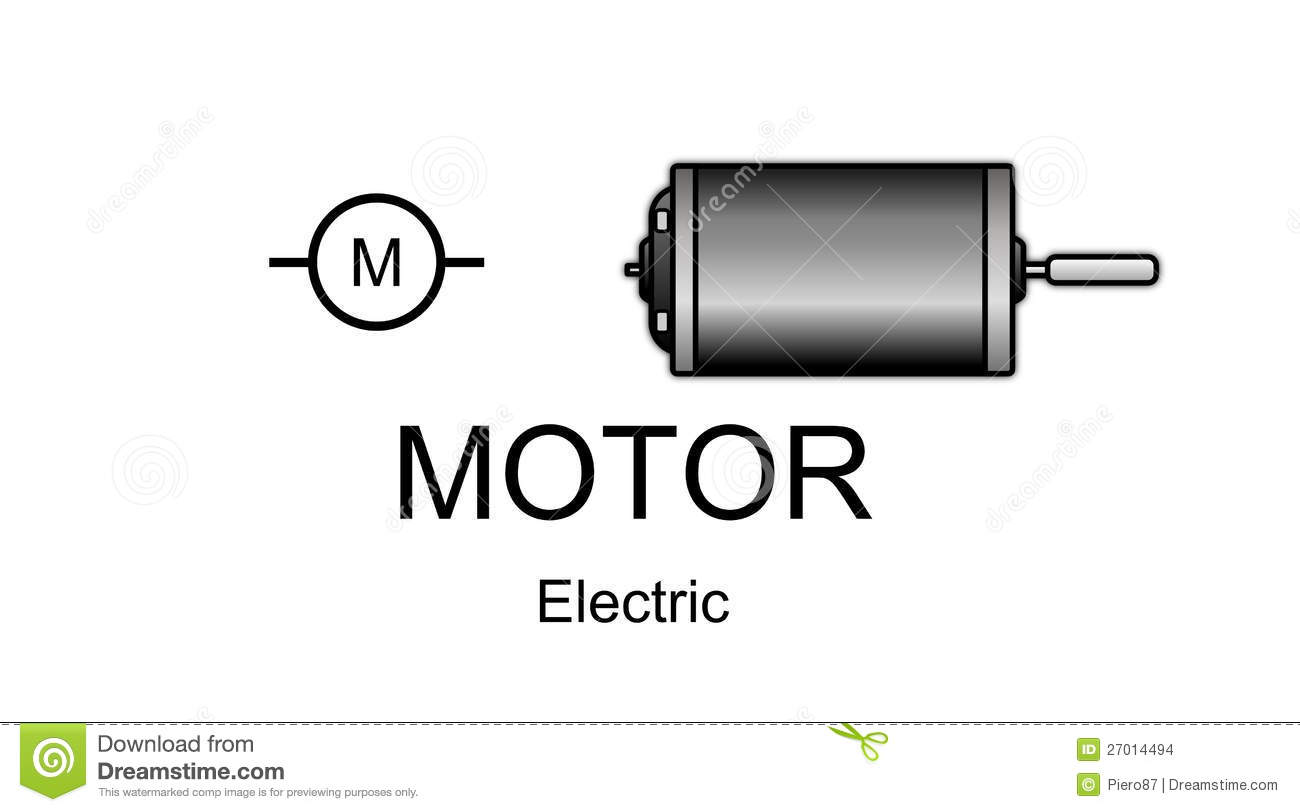 Electric Motor Icon And Symbol Stock Illustration - Illustration of ...