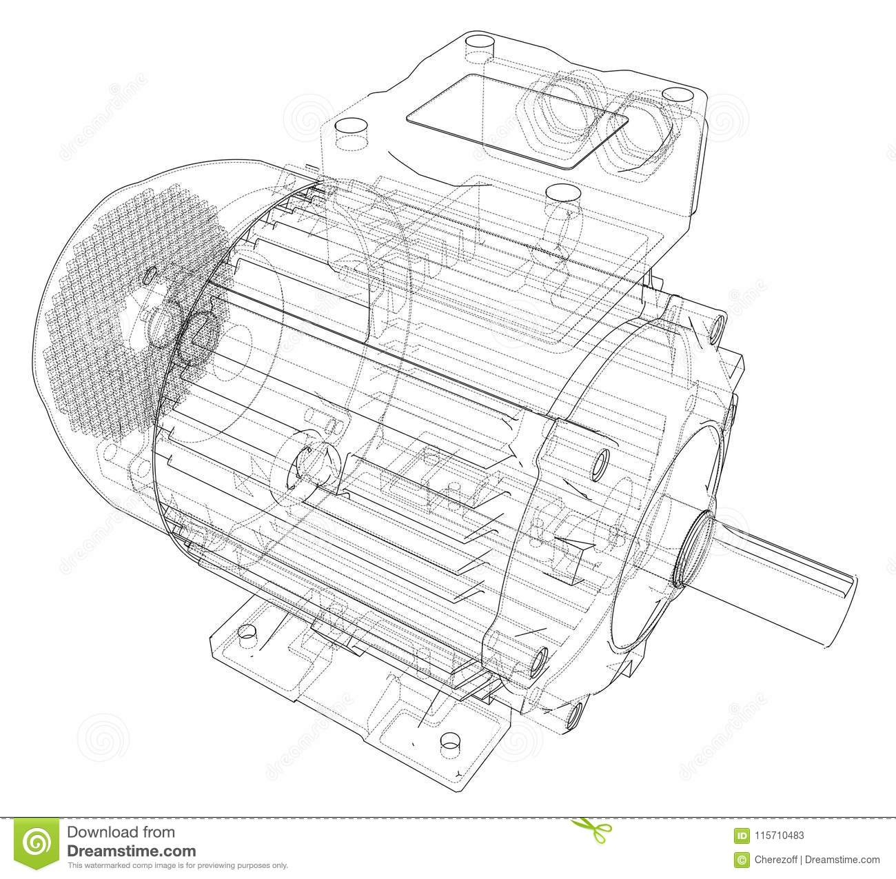 electric motor stock illustrations  u2013 9 899 electric motor