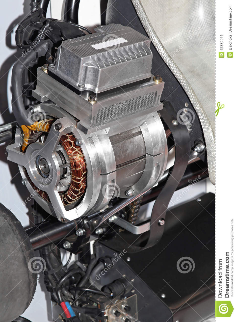 Electric Motor Stock Image Image 33880961