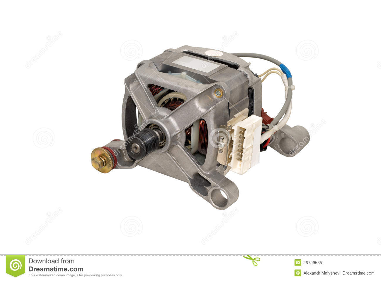 electric motor from a washing machine royalty free stock