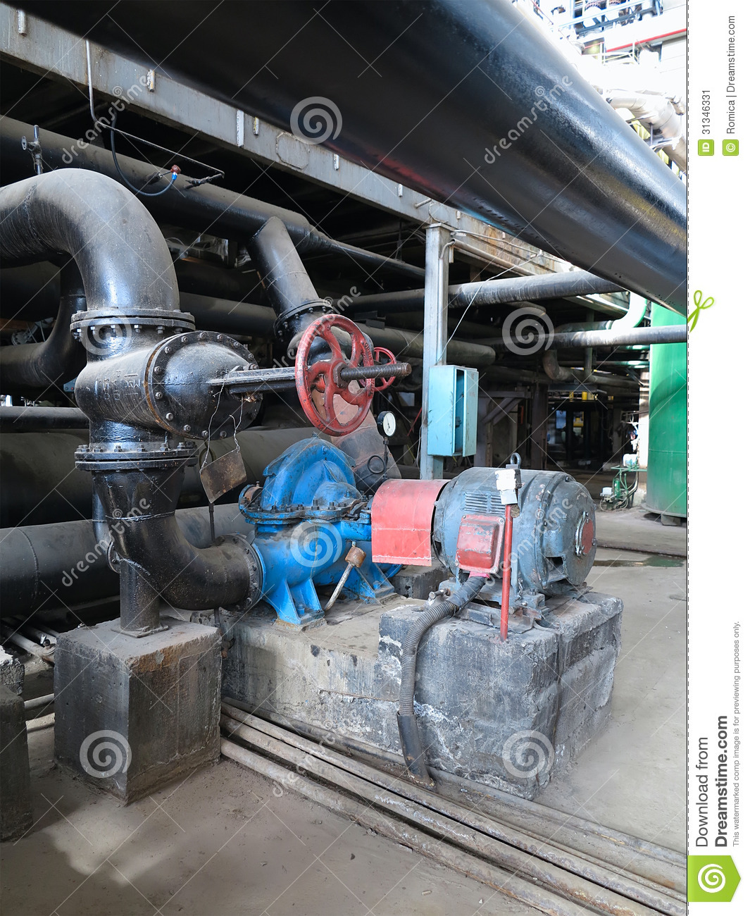 Electric motors driving water pumps at power plant stock for Electric motor repair indianapolis