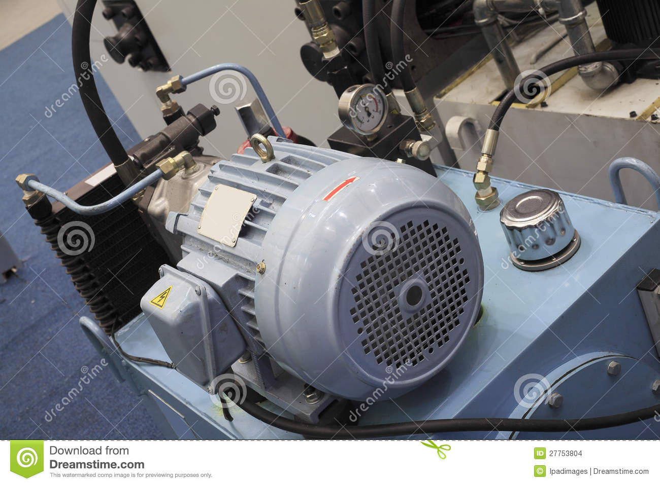 Electric Motors For Modern Industrial Equipment Stock