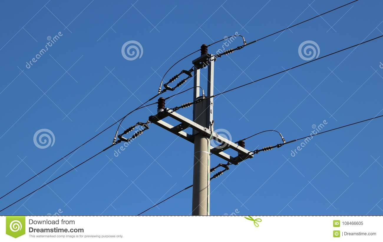 Electric Network. Ecology Of Power. Technical Pole. Iron ...