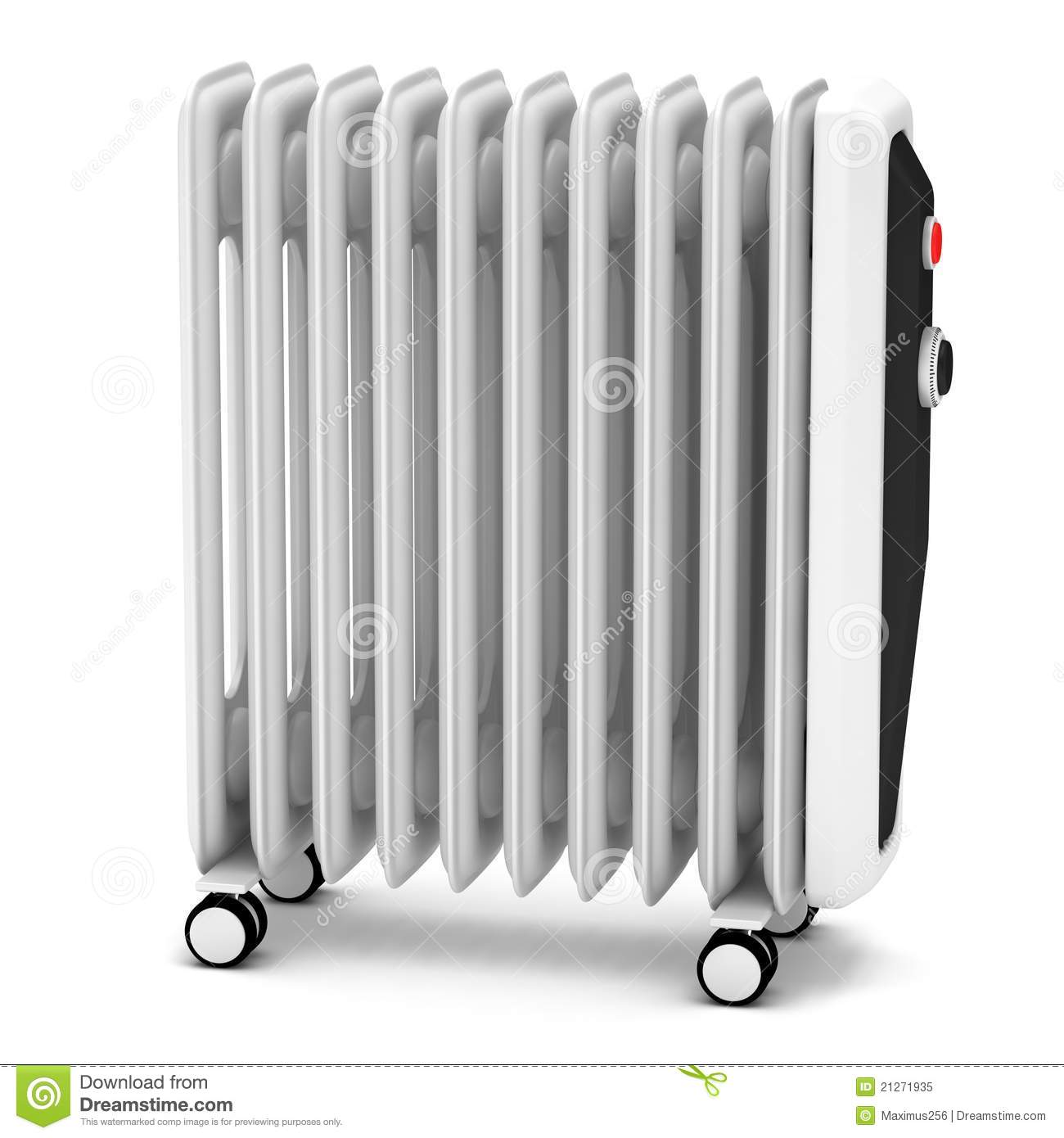 Electric Oil Heater Stock Illustration Illustration Of