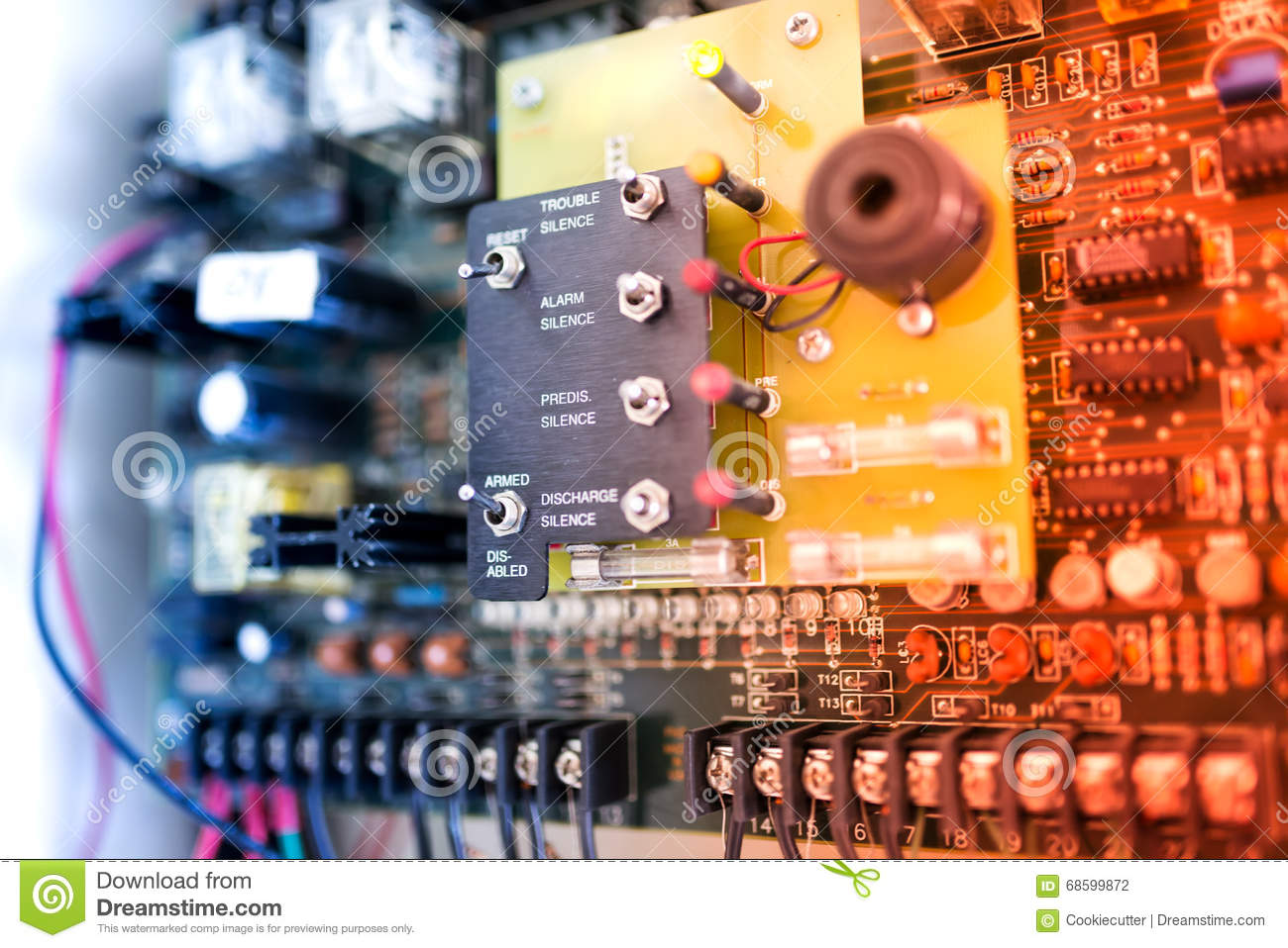 Download Electric Outdoor Fuse Box In Soft Light Stock Photo - Image of fuse,  power