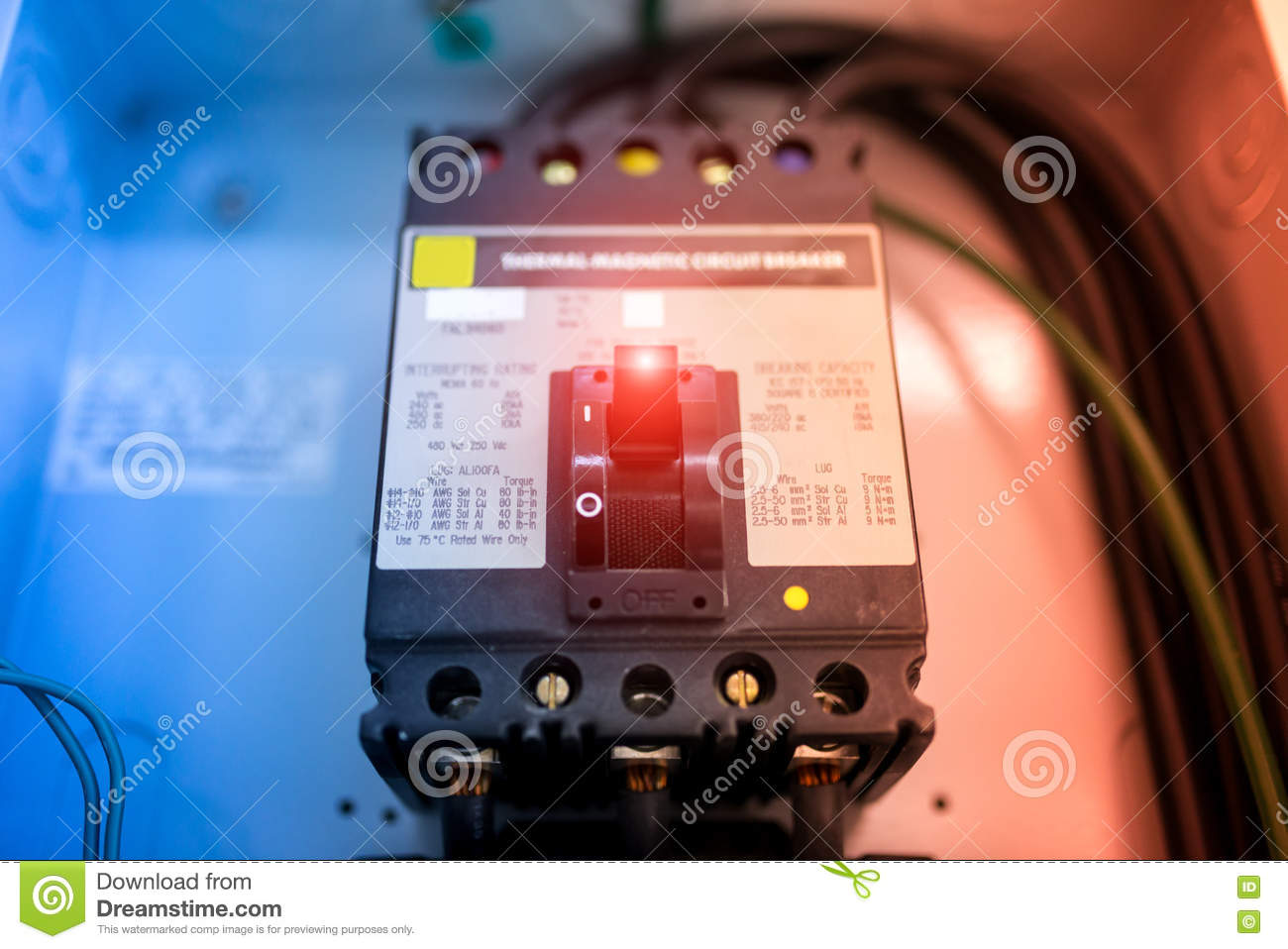 electric outdoor fuse box in soft light stock image image of fuse rh dreamstime com small outdoor fuse box outdoor electrical fuse box