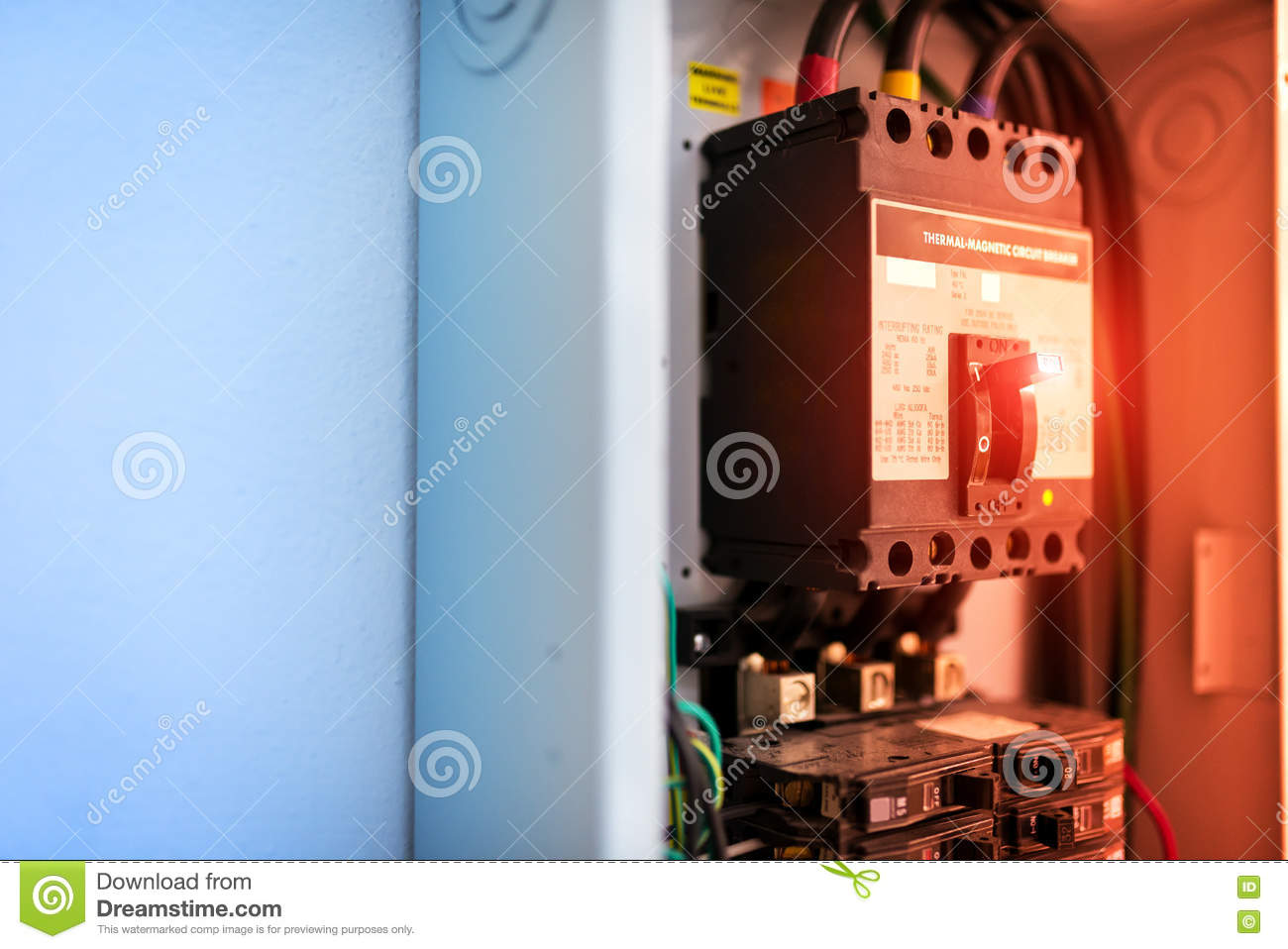 Electric Outdoor Fuse Box In Soft Light Stock Photo - Image ... on