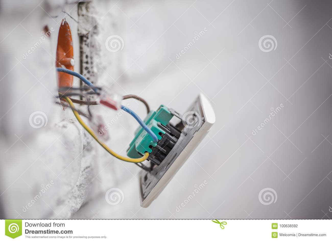 Electrical Wiring Plug Outlet Trusted Diagrams Wall Outlets Electric Installation Stock Photo Image Of Disposal