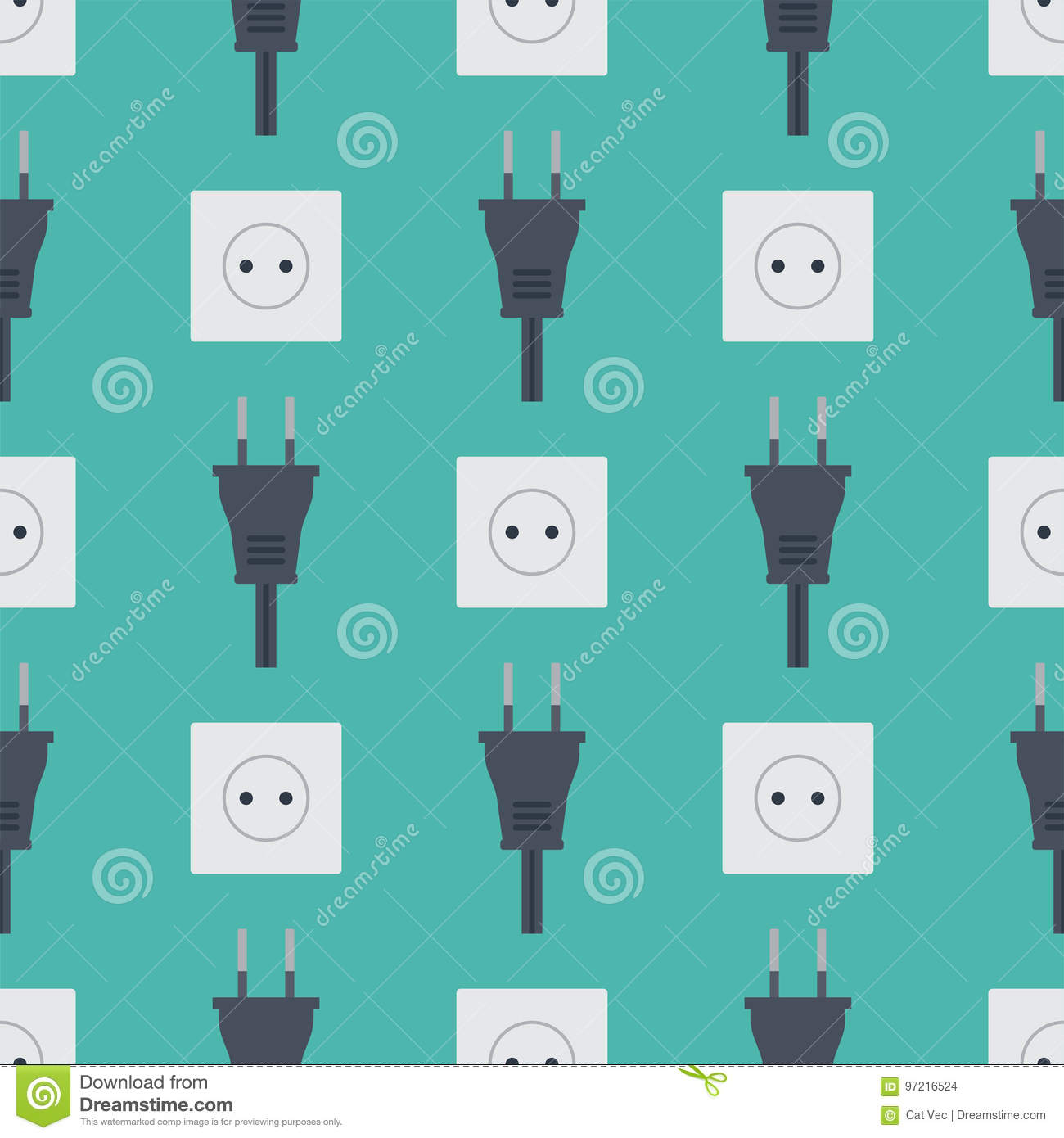 Electric Outlet Vector Illustration Energy Socket Electrical Outlets ...