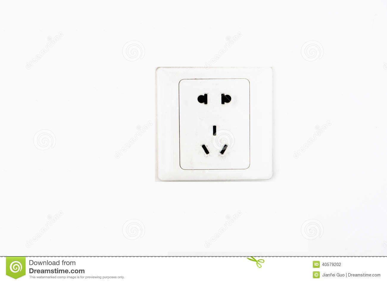 220 Volt Outlet >> Electric Outlet Wall Socket Plug Receptacle Stock Photo
