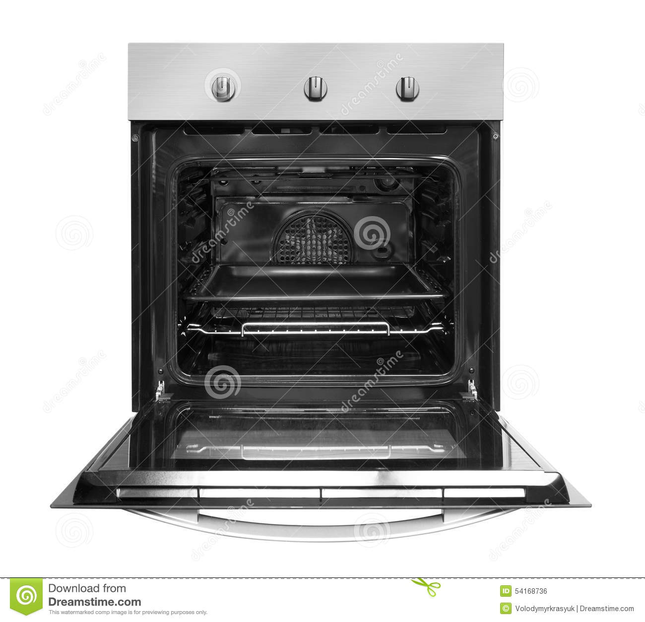 Electric Oven Open ~ Electric oven with open door stock photo image