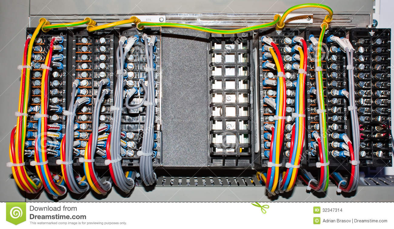 Electric panel connections stock photo. Image of panel - 32347314