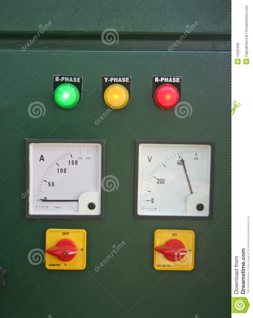 Electric Panel And Main Switch Board Lights Stock Photo - Image of on