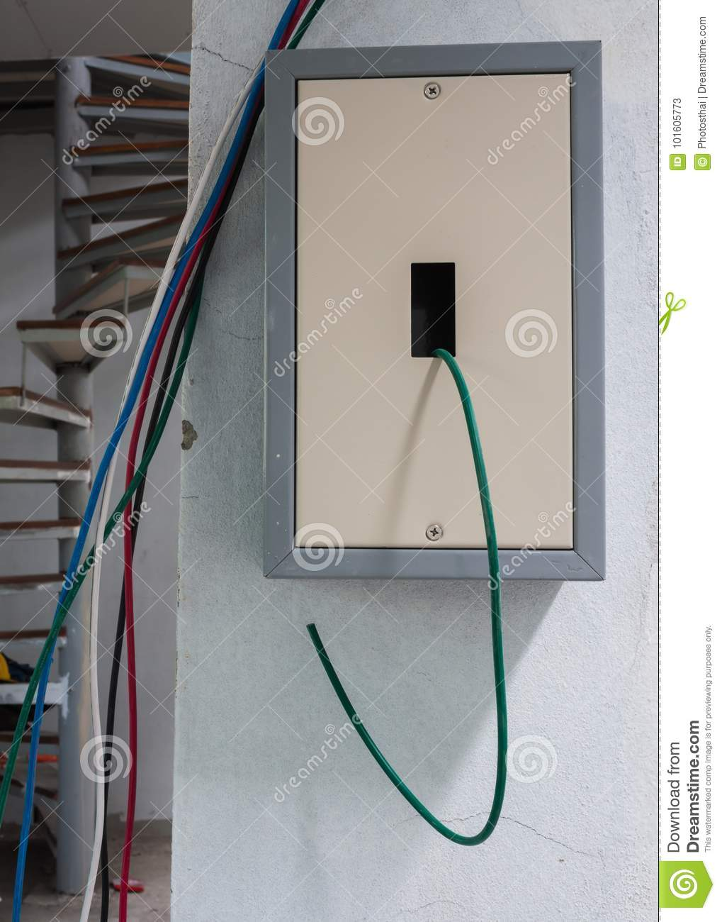 Electric Plug Circuit With Wiring Line Stock Image - Image of ...