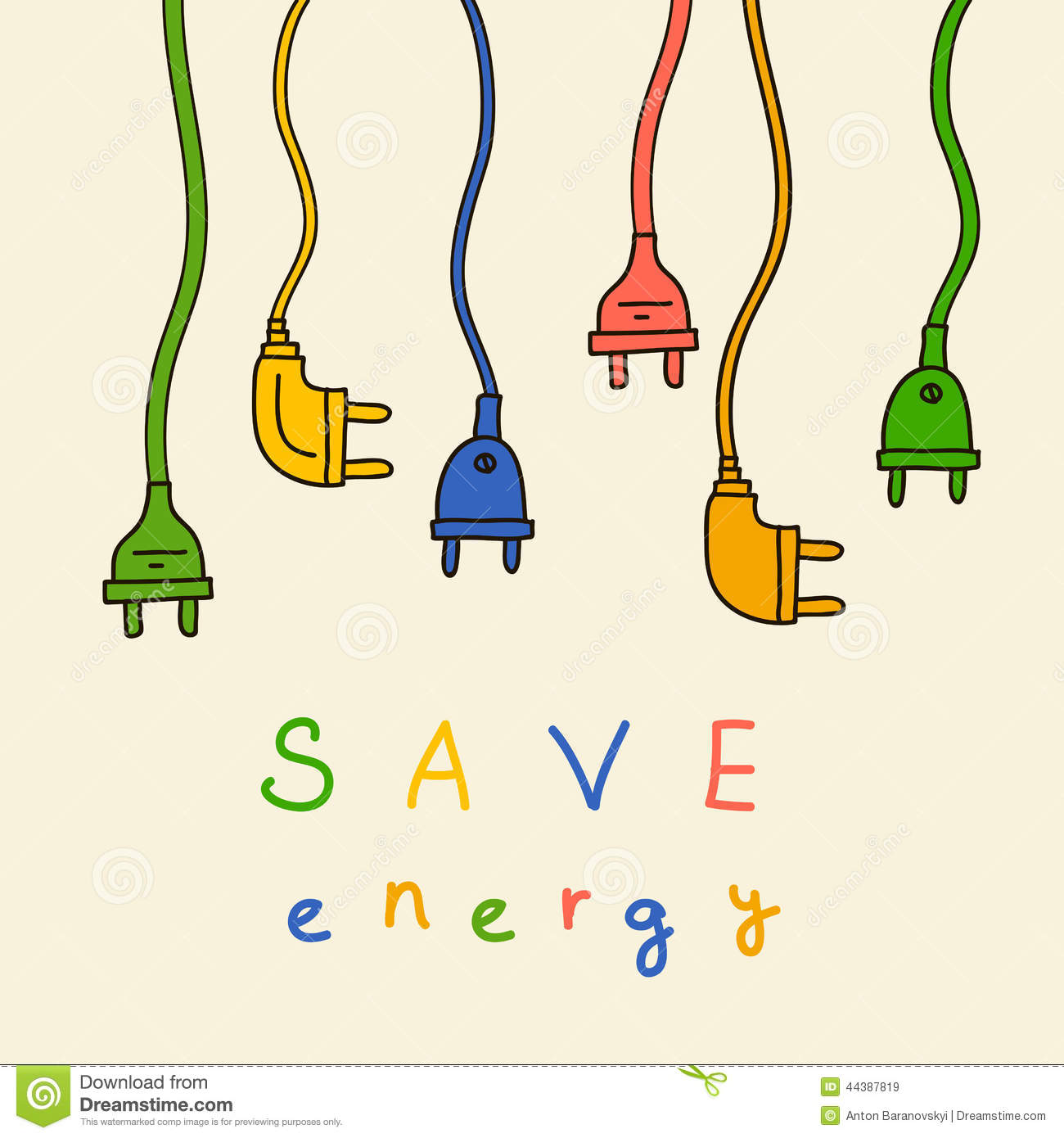 Electric Plug In Color Save Energy