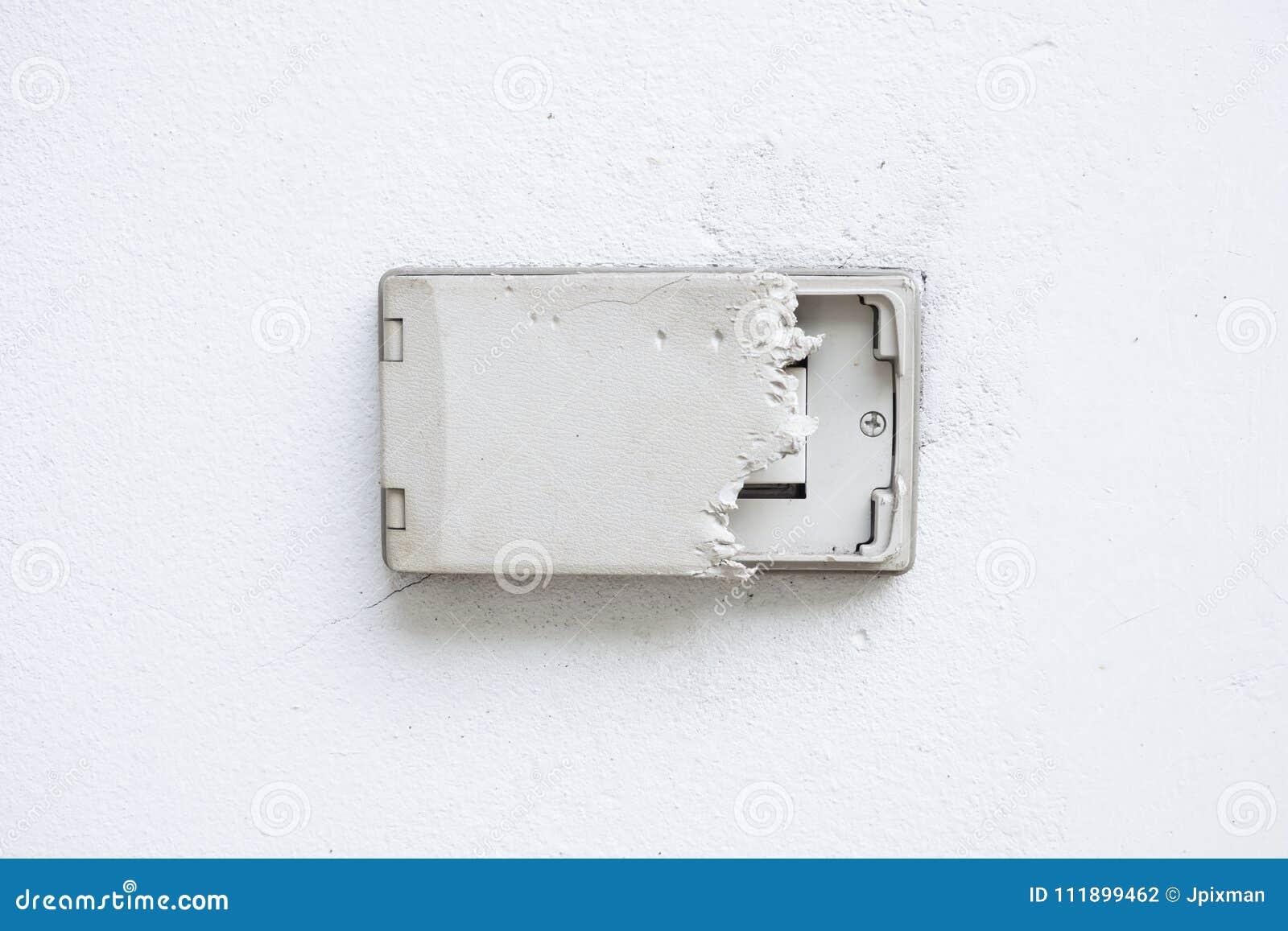 Electric Plug Cover Was Dog Bite. Wall Cover Plug Socket Damage ...