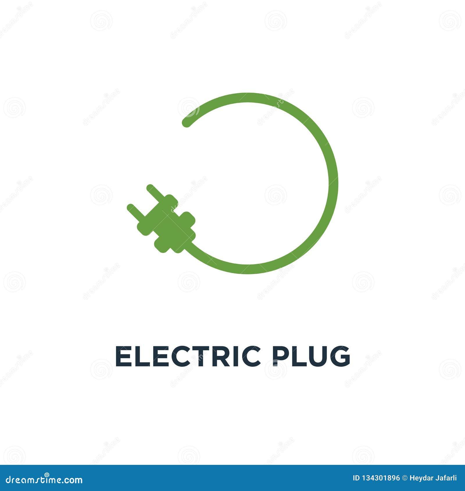 electric plug icon. car charging station sign concept symbol des