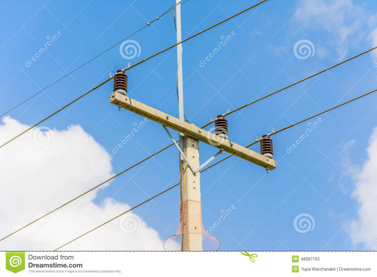 Electric pole close up stock image  Image of distance - 48087163