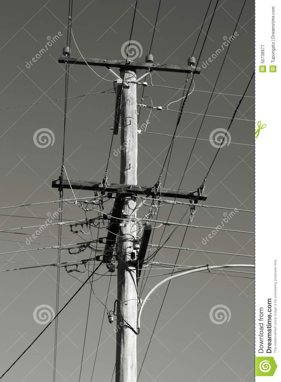 Electric pole stock image. Image of wires, black, network - 50738977