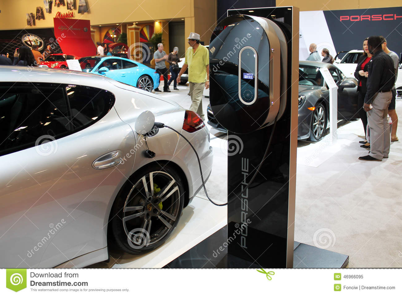 Electric Porsche 2015 Editorial Image Image 46966095
