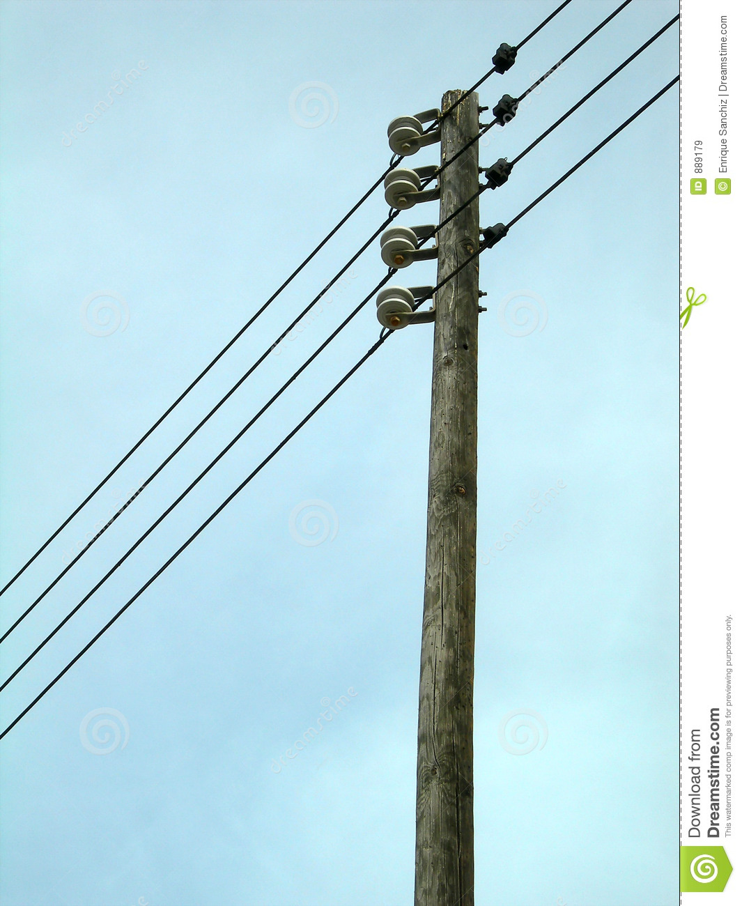Post: Electric Post Royalty Free Stock Images