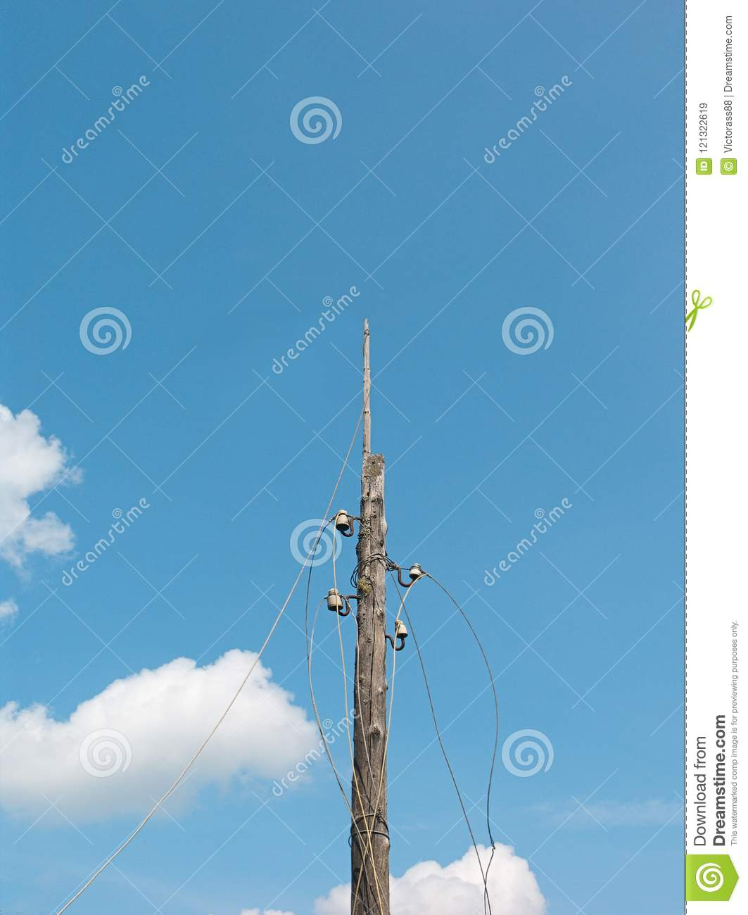 Electric Disconnected Wires Stock Image - Image of damage, daytime ...