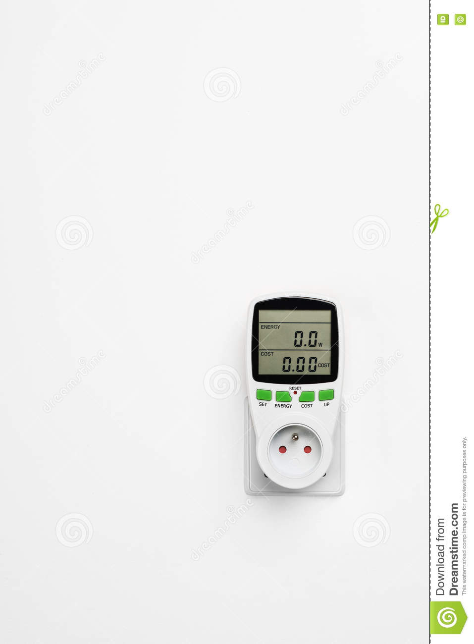 Power Meter Cartoon : Power consumption royalty free stock photography