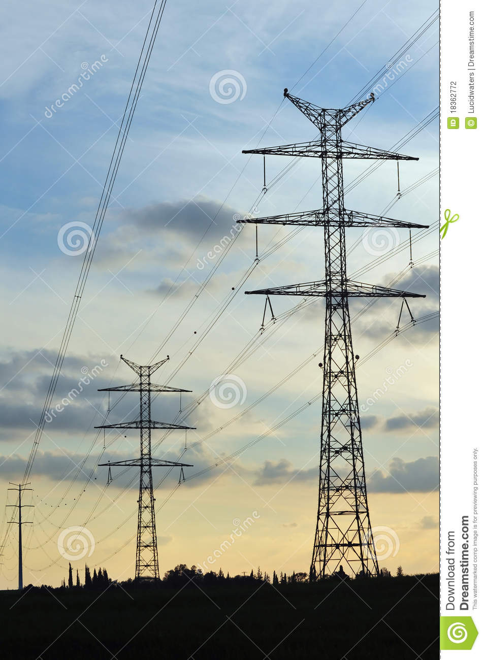 Electric Power Lines : Electric power lines stock photography cartoondealer