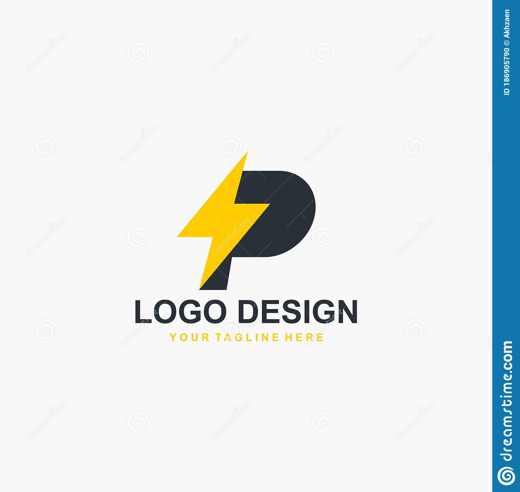 electric power logo design vector yellow thunder abstract symbol monogram p letter and bolt vector icons stock vector illustration of design bolt 186905790 dreamstime com