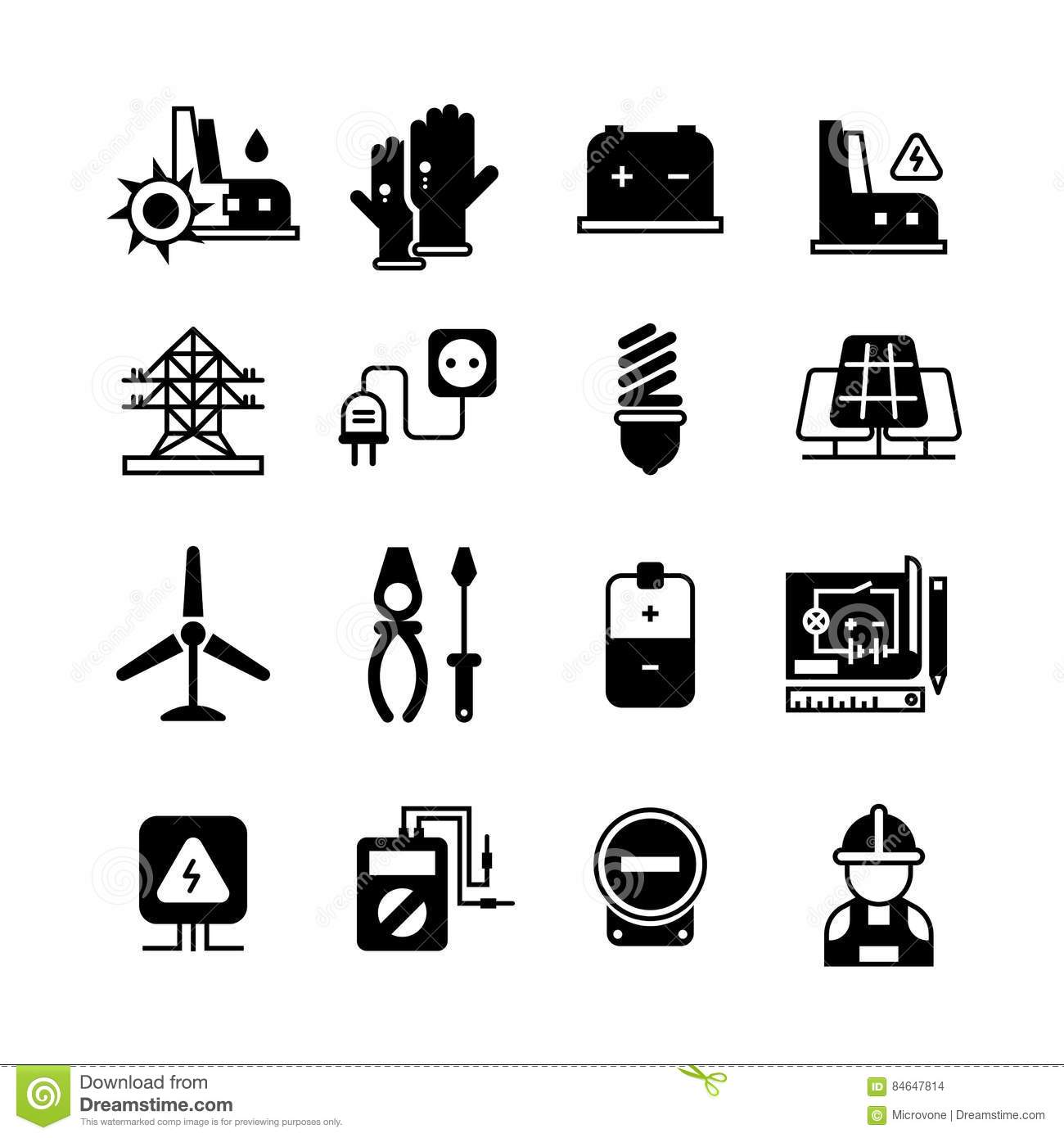 electric power plant  electricity  electronic tools vector