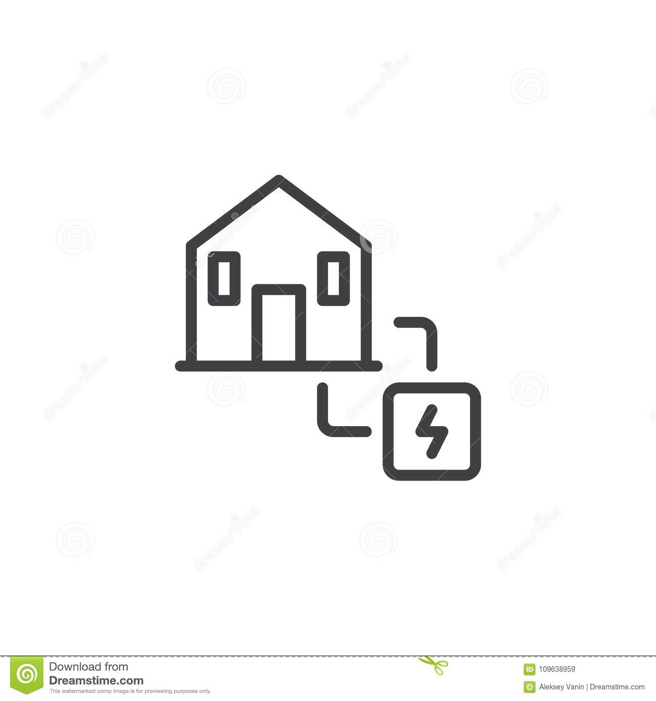 Electric Power Supply Line Icon Stock Vector Illustration Of