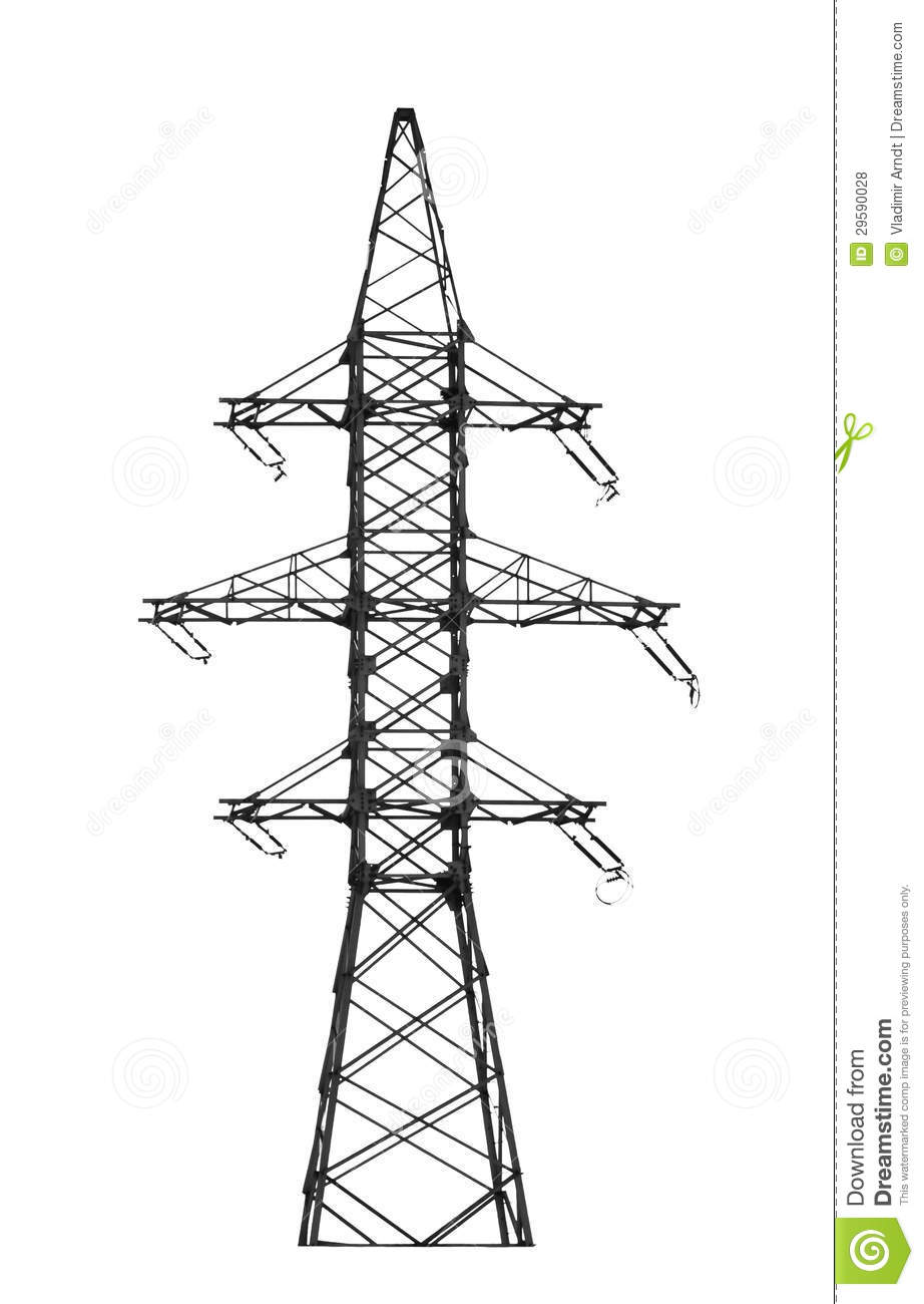 electric power tower  stock photo  image of cable