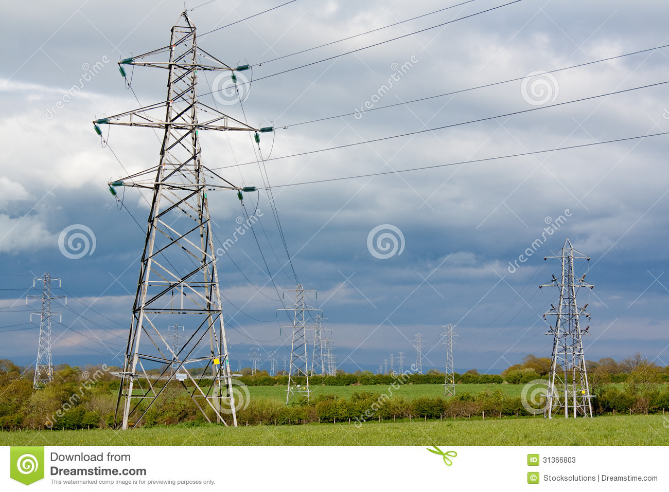 Electric Pylons Stock Image Of Planning Conservation 31366803 Electrical National Grid