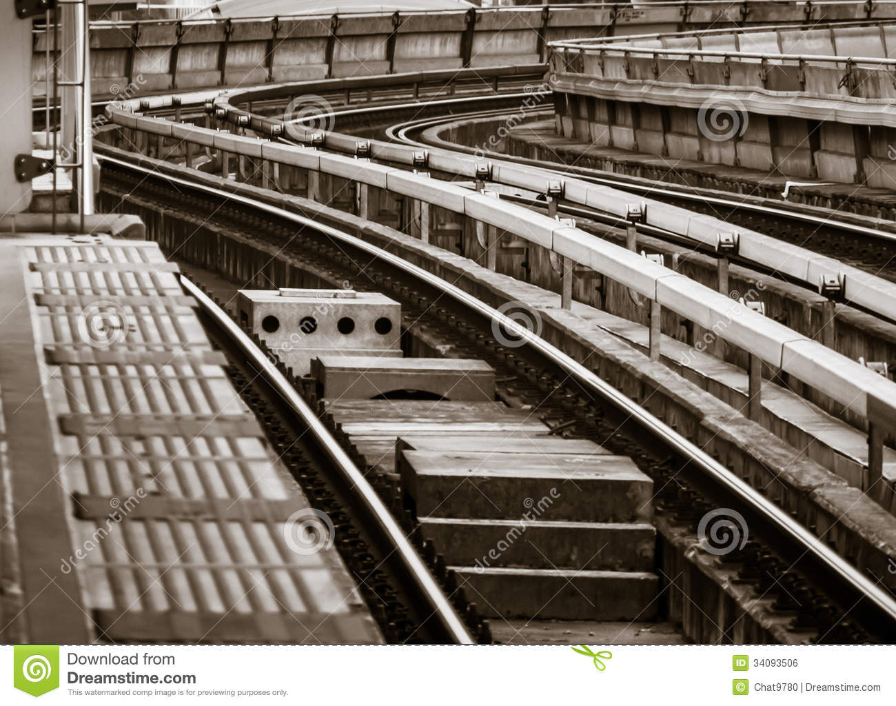 Fotos De Stock Chat9780: Electric Railway Curve Royalty Free Stock Image