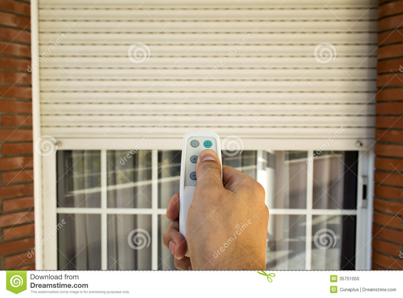 Electric Roller Shutter Stock Photo Image 35751050