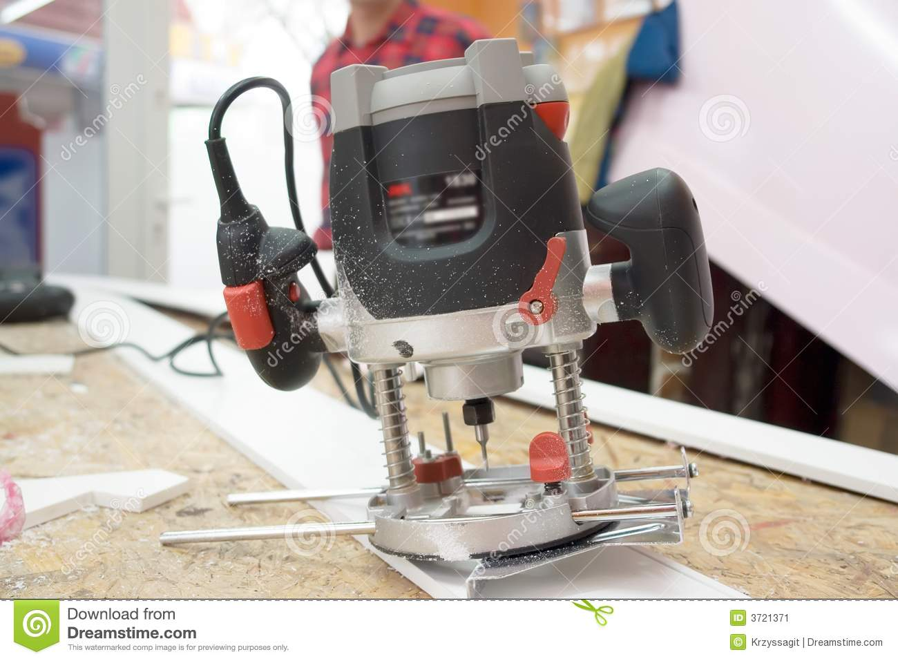 Electric Router Tool Stock Image Image Of Carpentry Craftsman