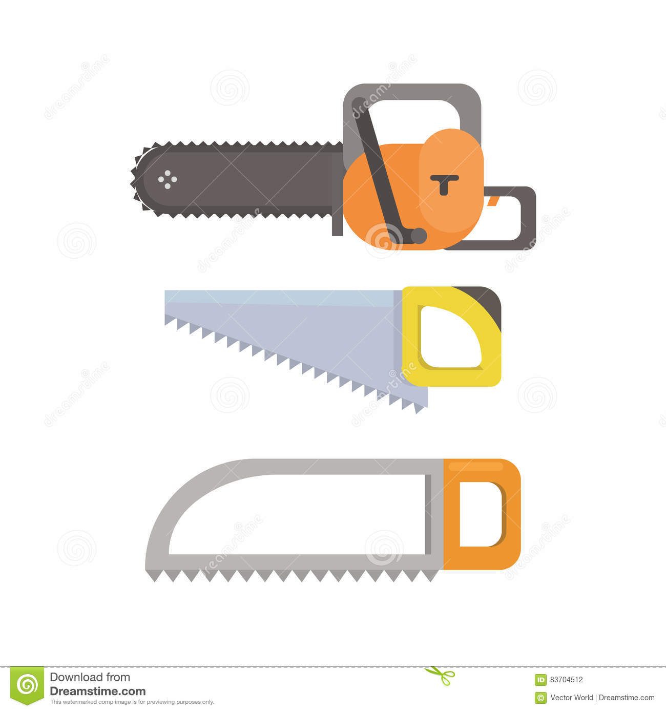 Electric Saw Vector Illustration. Stock Vector