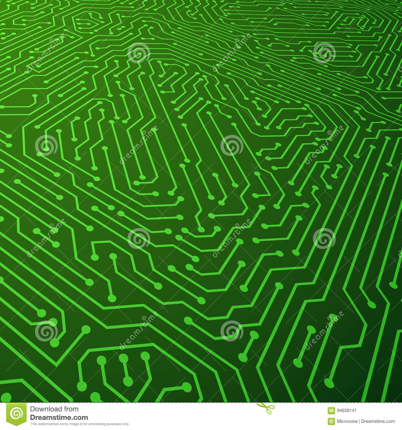 Electric Scheme Vector Background. Circuit Board Components Concept ...